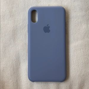 iPhone X & XS Silicone Case - Lavender Gray